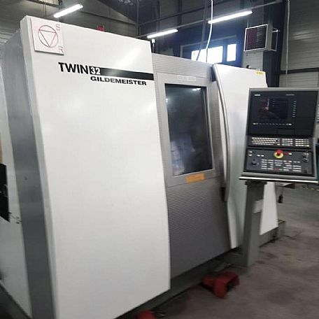 2000 Gildemeister Twin 32, used Turning Centres