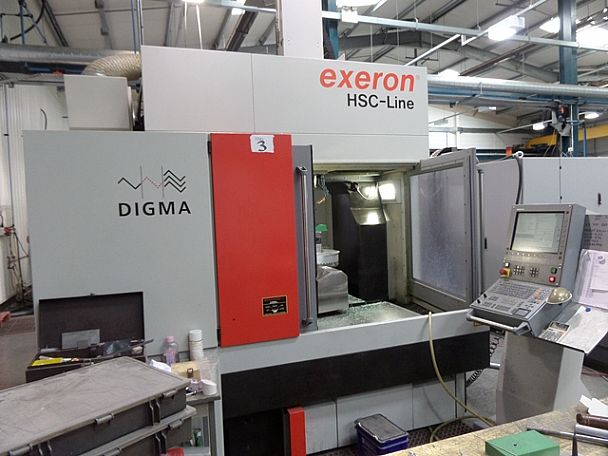 2006 Exeron Digma HSC Line, used 5 Axis Machines
